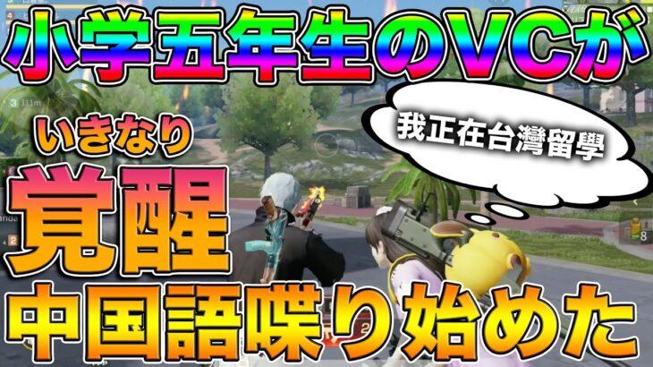 【荒野行動】神回!コミュ力0の小学五年生のVCがいきなり覚醒して中国語を喋り始めたんだがwww